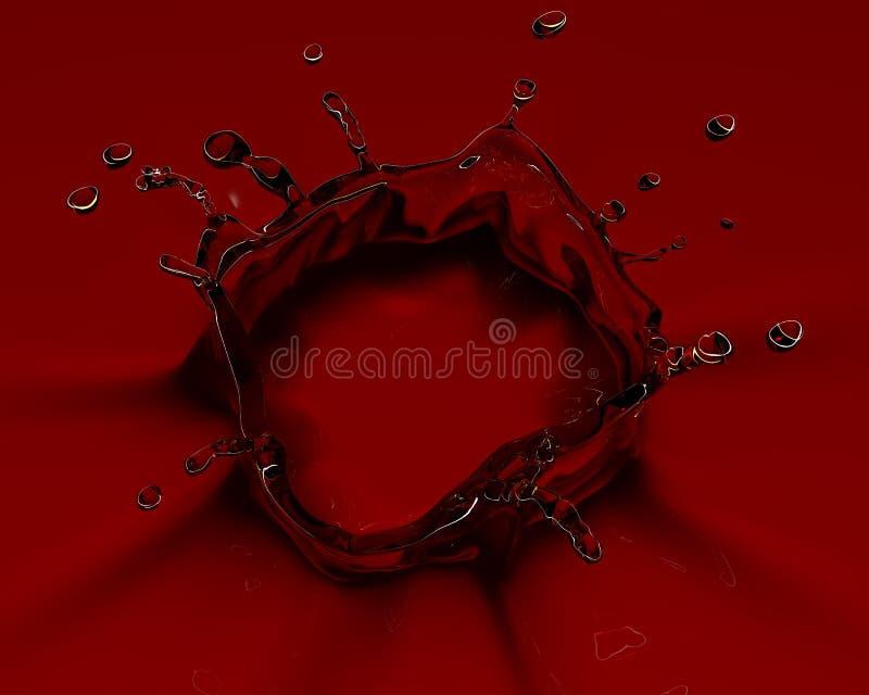 τρισδιάστατος κόκκινος & διανυσματική απεικόνιση