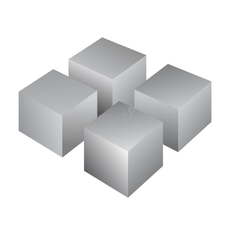 Τρισδιάστατος κύβος διανυσματική απεικόνιση