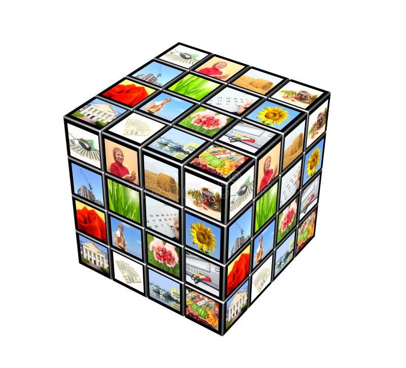 τρισδιάστατος κύβος απεικόνιση αποθεμάτων