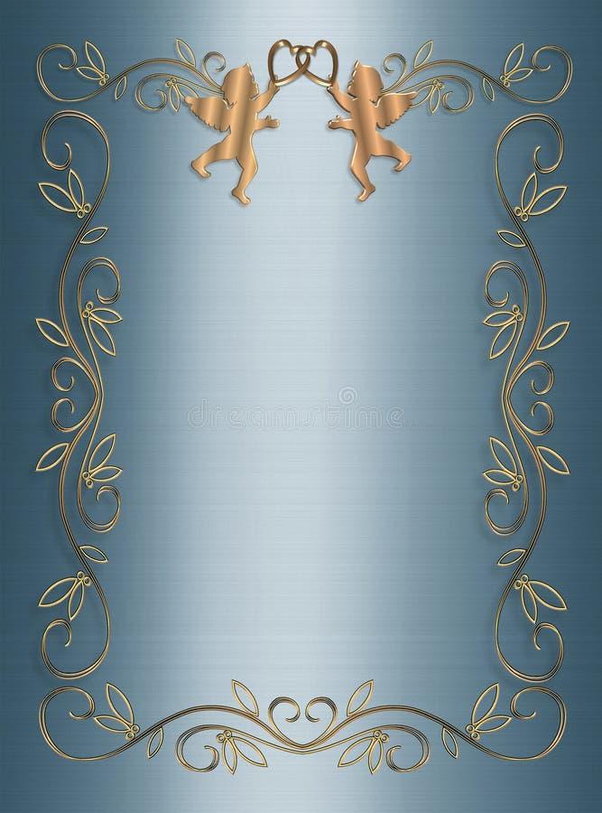 τρισδιάστατος μπλε γάμο&sig διανυσματική απεικόνιση