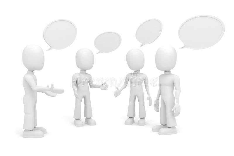 τρισδιάστατος ομιλητής ατόμων διανυσματική απεικόνιση