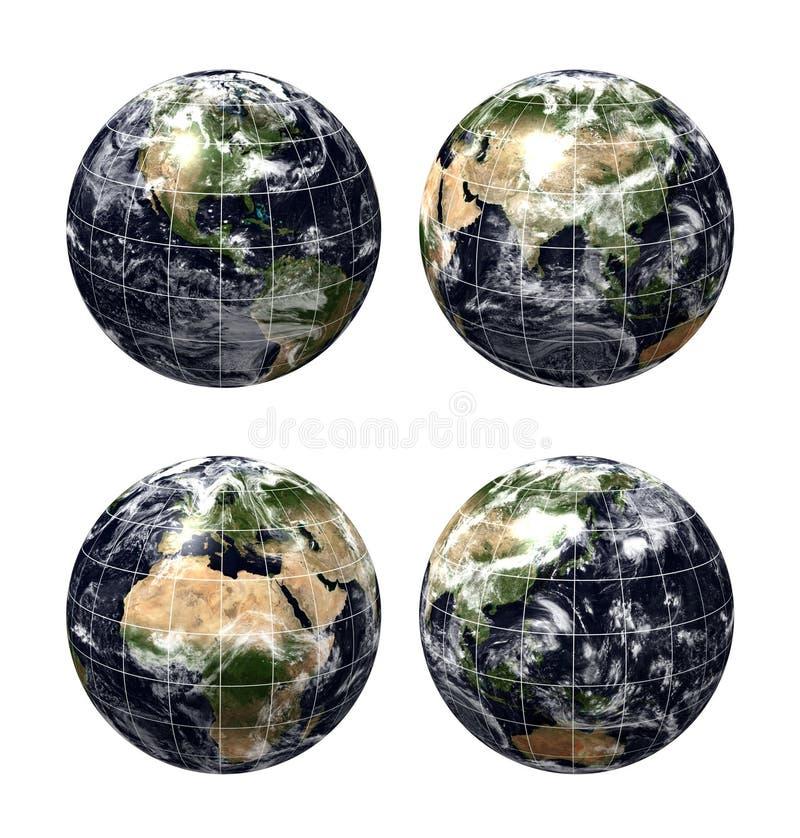 τρισδιάστατος πλανήτης χαρτών γήινων σφαιρών ρεαλιστικός διανυσματική απεικόνιση
