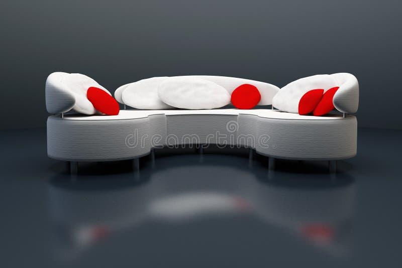τρισδιάστατος σύγχρονος καναπές απόδοσης