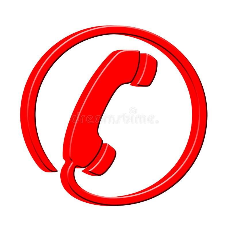 τρισδιάστατος τηλεφωνικός δέκτης εικονιδίων ελεύθερη απεικόνιση δικαιώματος