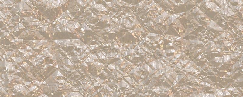 τρισδιάστατος τοίχος πετρών κρυστάλλου απεικόνισης διανυσματική απεικόνιση
