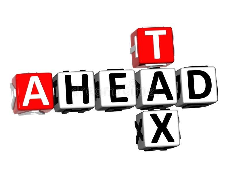 τρισδιάστατος φόρος σταυρόλεξων απόδοσης ver μπροστά άσπρο υπόβαθρο διανυσματική απεικόνιση