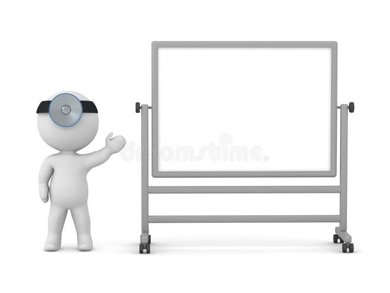 τρισδιάστατος χαρακτήρας με τους γιατρούς ελαφριούς παρουσιάζοντας ένα Whiteboard ελεύθερη απεικόνιση δικαιώματος