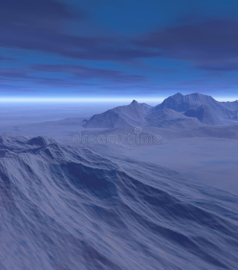 τρισδιάστατος χειμώνας τ& διανυσματική απεικόνιση