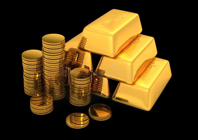 τρισδιάστατος χρυσός νο&m απεικόνιση αποθεμάτων