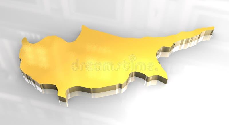 τρισδιάστατος χρυσός χάρ&tau απεικόνιση αποθεμάτων