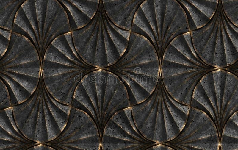 τρισδιάστατο άνευ ραφής σχέδιο απεικόνισης για το κεραμίδι τοίχων, υφαντικό σχέδιο υφάσματος, εσωτερική αφίσα τοίχων, μαρμάρινοι  απεικόνιση αποθεμάτων