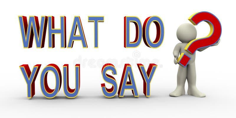 τρισδιάστατο άτομο - τι λέτε; απεικόνιση αποθεμάτων