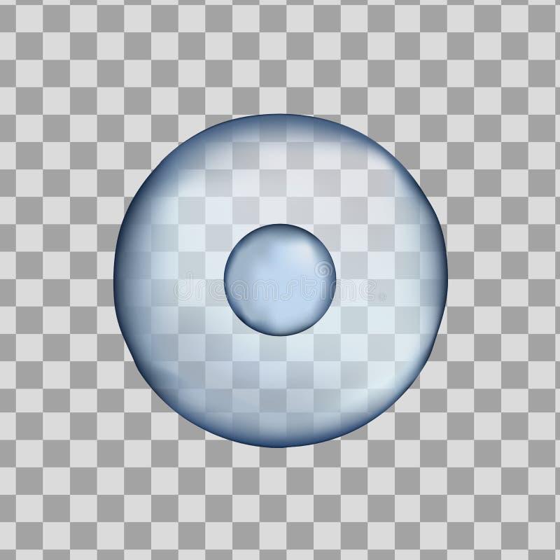τρισδιάστατο απομονωμένο ανθρώπινο μπλε κύτταρο Ρεαλιστική διανυσματική απεικόνιση Πρότυπο για την ιατρική και τη βιολογία στοκ εικόνες
