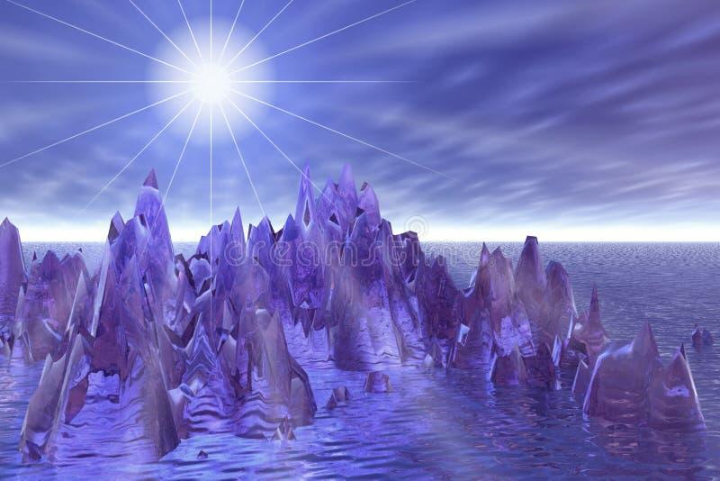 τρισδιάστατο αστέρι τοπίω& διανυσματική απεικόνιση
