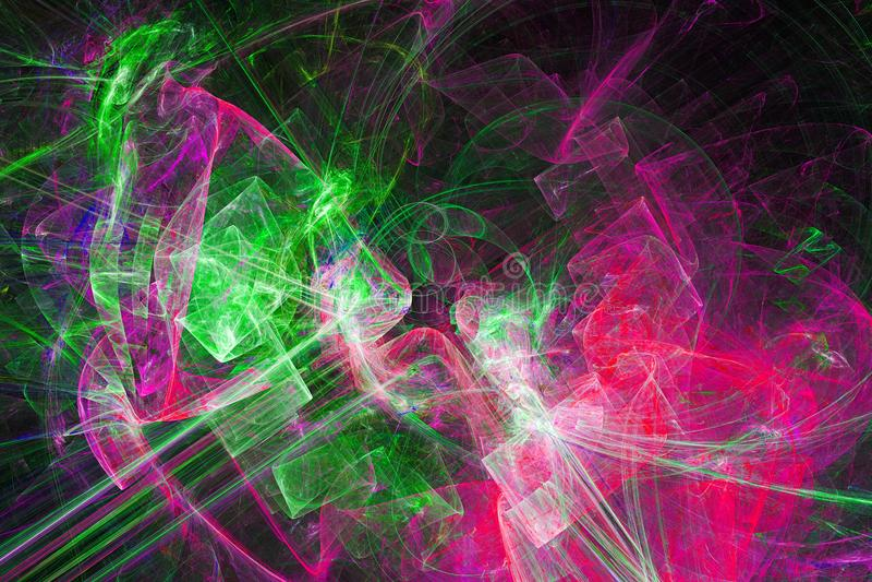 τρισδιάστατο αφηρημένο fractal υπόβαθρο Στοιχείο σχεδίου για το ιπτάμενο, φυλλάδιο, Ιστός διανυσματική απεικόνιση