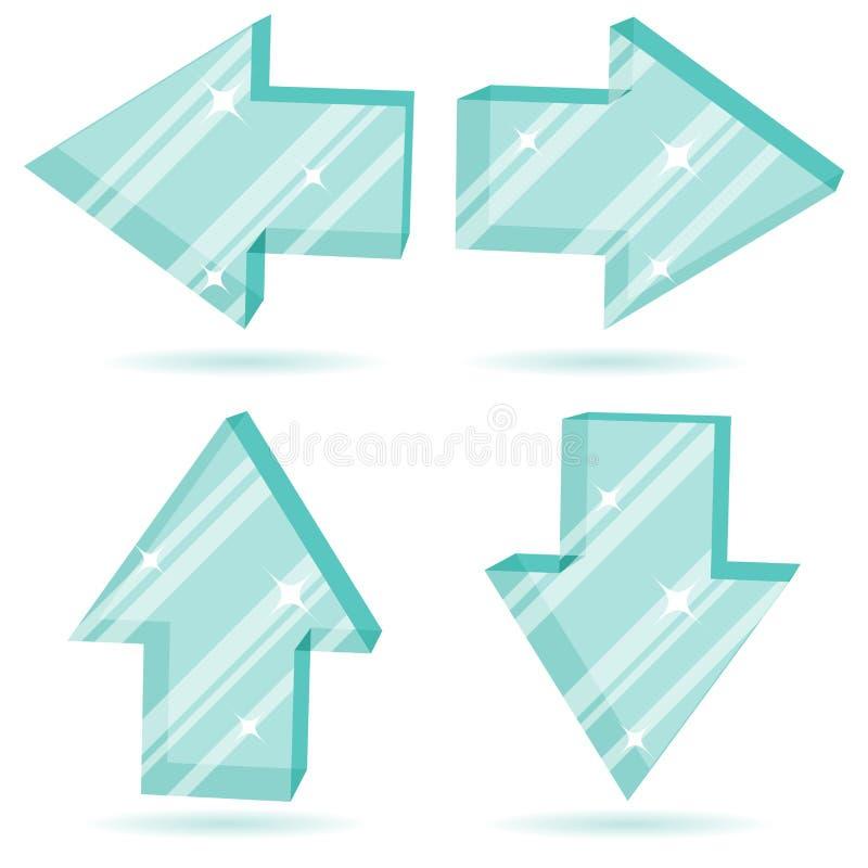 τρισδιάστατο γυαλί βελώ&n απεικόνιση αποθεμάτων