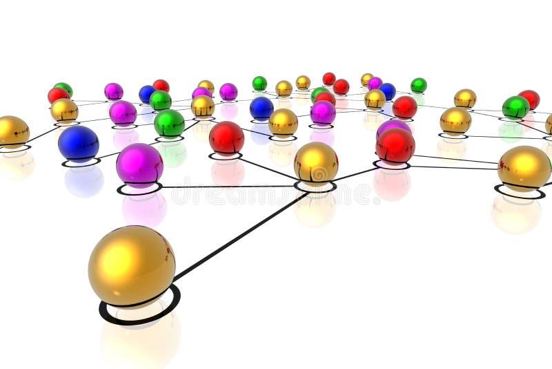τρισδιάστατο δίκτυο συν ελεύθερη απεικόνιση δικαιώματος