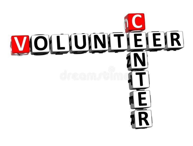 τρισδιάστατο δίνοντας κέντρο σταυρόλεξων το εθελοντικό Word πέρα από άσπρο Backgrou ελεύθερη απεικόνιση δικαιώματος