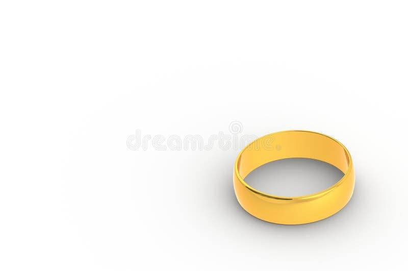 τρισδιάστατο δίνοντας χρυσό δαχτυλίδι στο άσπρο υπόβαθρο στοκ εικόνες