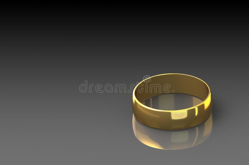 τρισδιάστατο δίνοντας χρυσό δαχτυλίδι στο μαύρο υπόβαθρο στοκ φωτογραφία με δικαίωμα ελεύθερης χρήσης