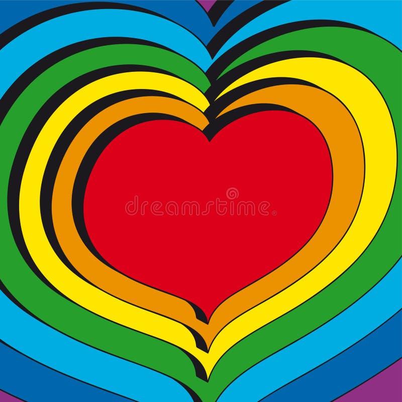 τρισδιάστατο διάνυσμα καρδιών διανυσματική απεικόνιση