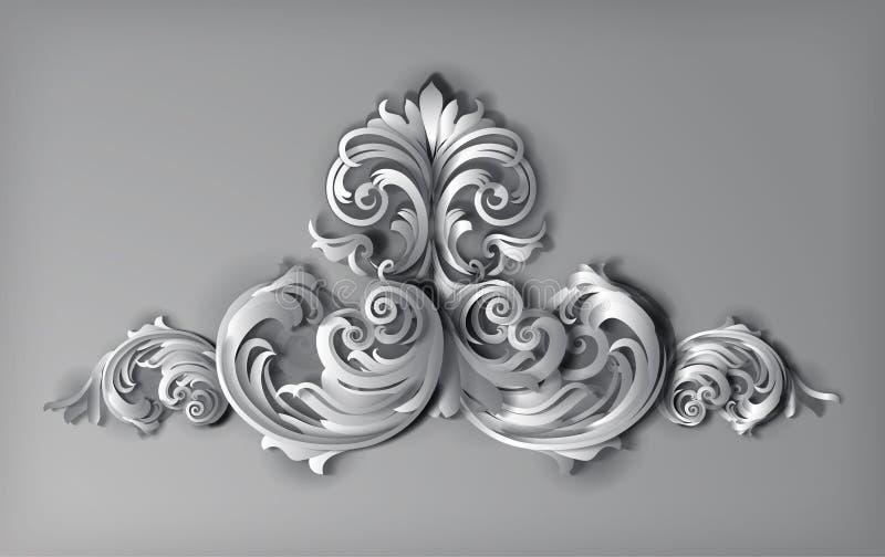 τρισδιάστατο διάνυσμα Florals στοκ φωτογραφία