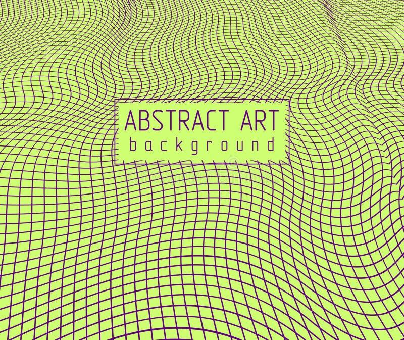τρισδιάστατο διανυσματικό αφηρημένο υπόβαθρο πλέγματος, καλλιτεχνική καθιερώνουσα τη μόδα σύγχρονη απεικόνιση του δικτυωτού πλέγμ διανυσματική απεικόνιση