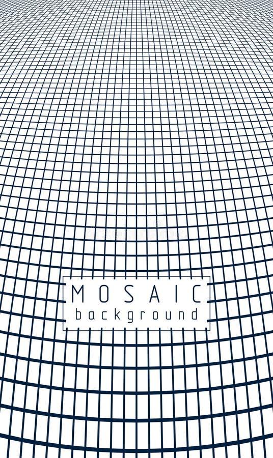 τρισδιάστατο διανυσματικό αφηρημένο υπόβαθρο πλέγματος, καλλιτεχνικό καθιερώνον τη μόδα σύγχρονο illus διανυσματική απεικόνιση