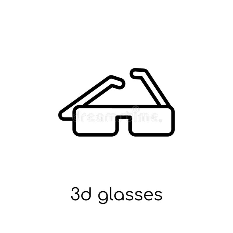 τρισδιάστατο εικονίδιο γυαλιών  διανυσματική απεικόνιση