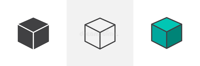 τρισδιάστατο εικονίδιο ύφους κύβων διαφορετικό απεικόνιση αποθεμάτων