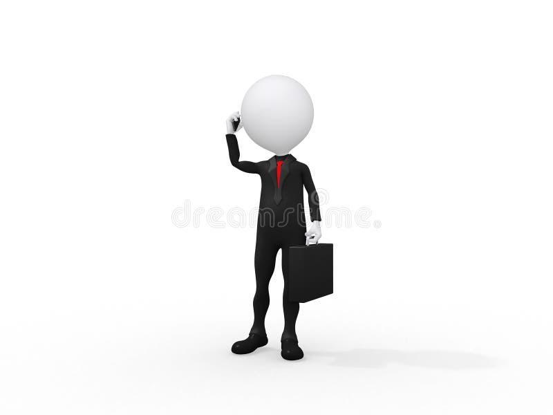 τρισδιάστατο επιχειρησιακό άτομο διανυσματική απεικόνιση