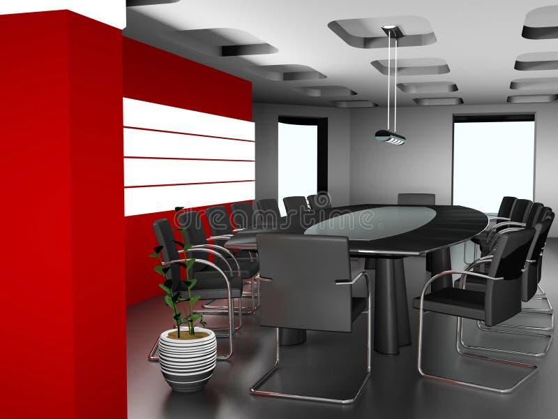τρισδιάστατο εσωτερικό σύγχρονο γραφείο εικόνας διανυσματική απεικόνιση