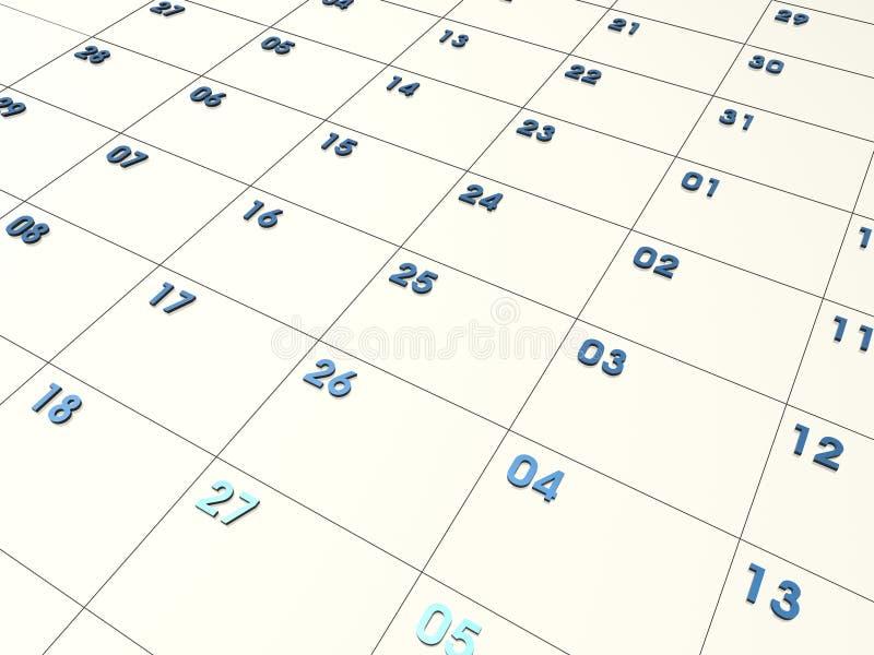 τρισδιάστατο ημερολόγι&omic απεικόνιση αποθεμάτων
