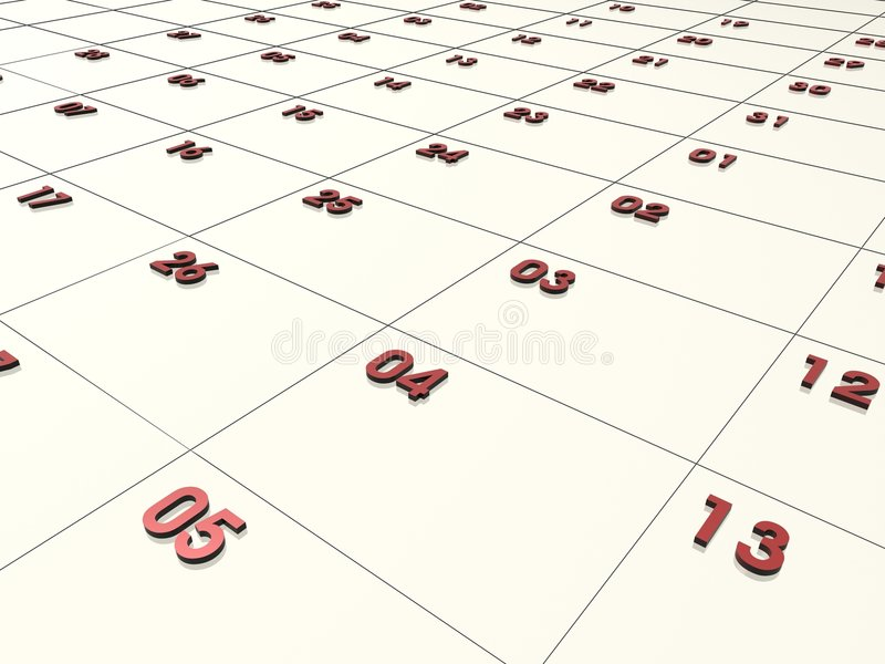 τρισδιάστατο ημερολόγι&omic διανυσματική απεικόνιση