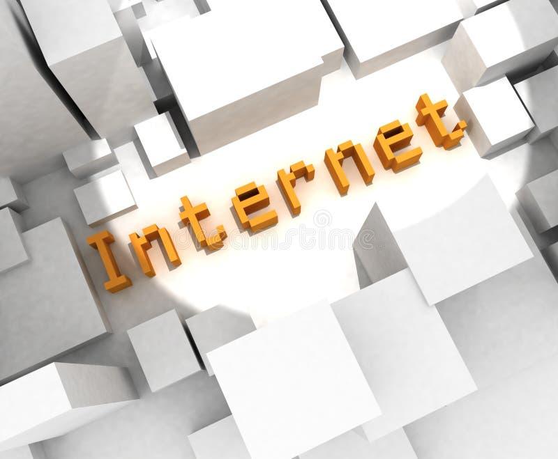 τρισδιάστατο κείμενο Διαδικτύου απεικόνιση αποθεμάτων