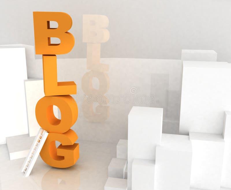 τρισδιάστατο κείμενο blog ελεύθερη απεικόνιση δικαιώματος