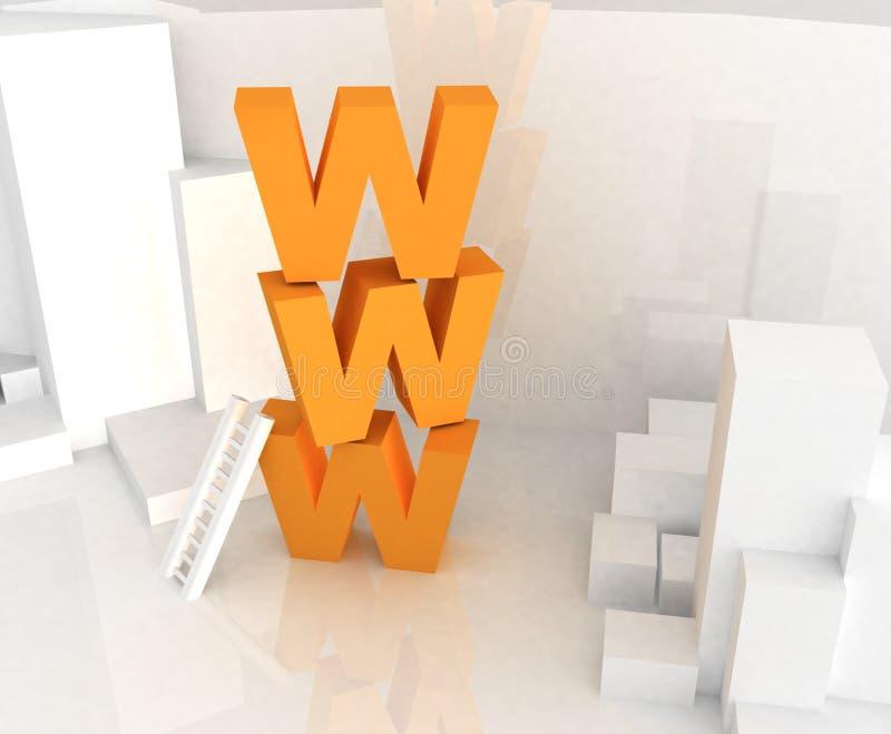 τρισδιάστατο κείμενο www διανυσματική απεικόνιση