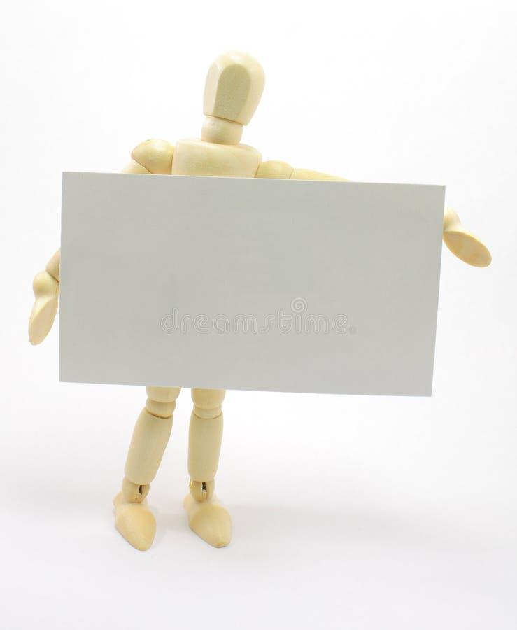 τρισδιάστατο κενό άτομο εκμετάλλευσης επαγγελματικών καρτών στοκ εικόνες με δικαίωμα ελεύθερης χρήσης