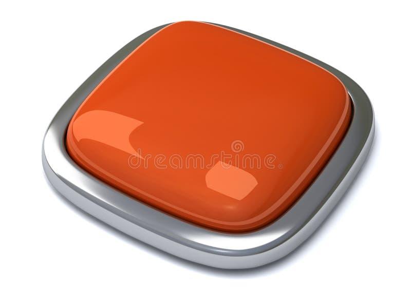 τρισδιάστατο κενό κουμπί διανυσματική απεικόνιση