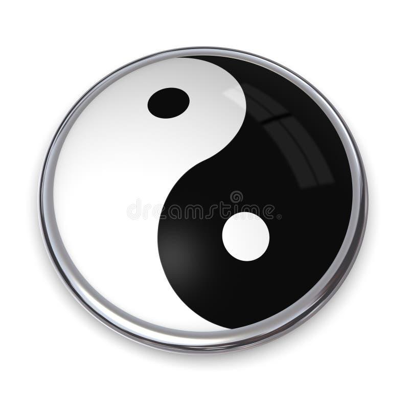 τρισδιάστατο κουμπί yang yin ελεύθερη απεικόνιση δικαιώματος