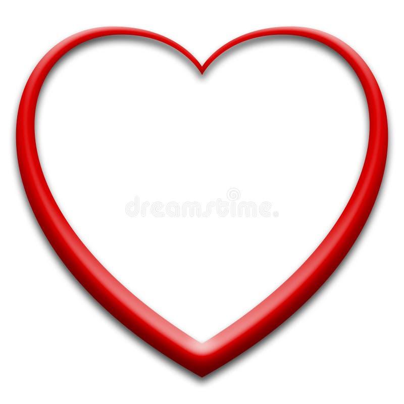 τρισδιάστατο κόκκινο καρδιών διανυσματική απεικόνιση