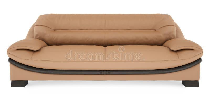 τρισδιάστατο λευκό καναπέδων ανασκόπησης καφετί στοκ εικόνα με δικαίωμα ελεύθερης χρήσης