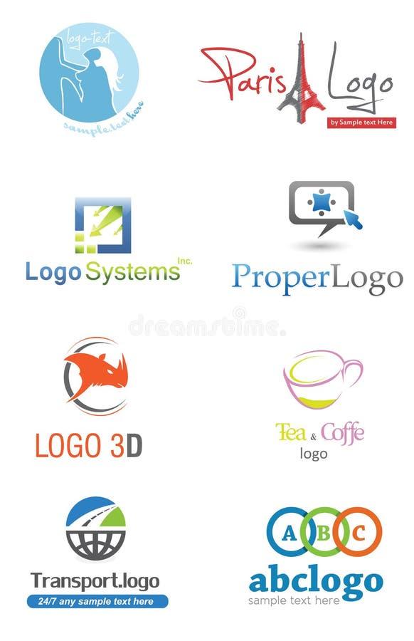 τρισδιάστατο λογότυπο απεικόνιση αποθεμάτων