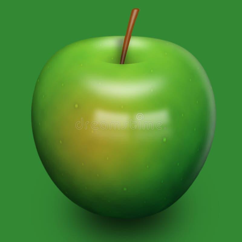 τρισδιάστατο μήλο στοκ εικόνες