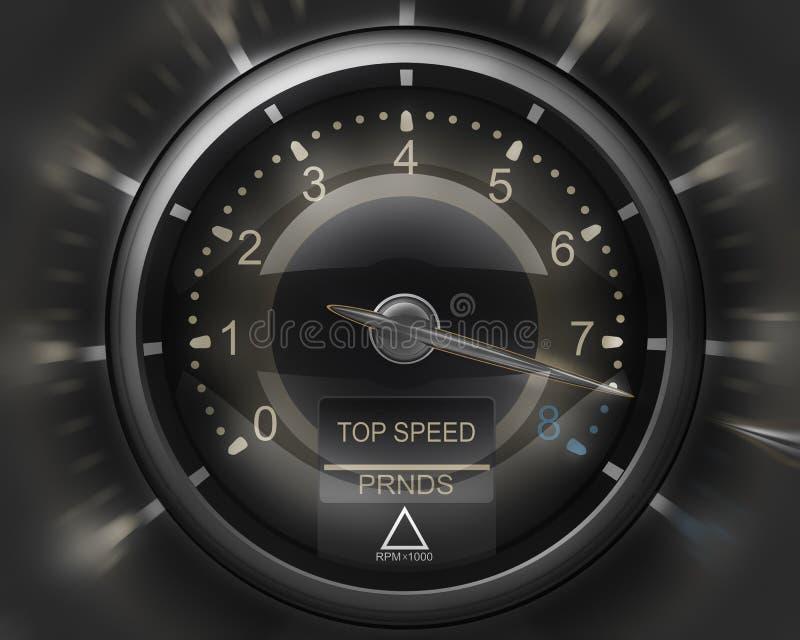 τρισδιάστατο μαύρο ταχύμε& διανυσματική απεικόνιση