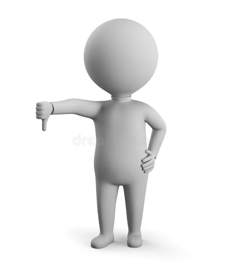 τρισδιάστατο μικρό άτομο - αριθ. ελεύθερη απεικόνιση δικαιώματος