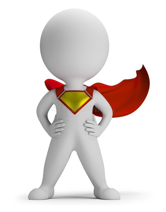 τρισδιάστατο μικρό superhero ανθρώ& απεικόνιση αποθεμάτων