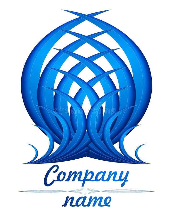 τρισδιάστατο μπλε λογότυπο φτερών στοκ εικόνες