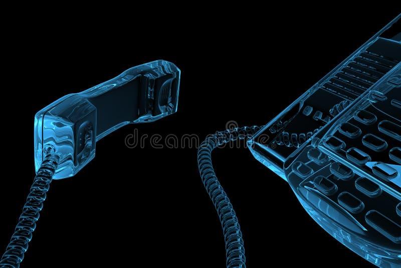 τρισδιάστατο μπλε τηλέφω&n διανυσματική απεικόνιση