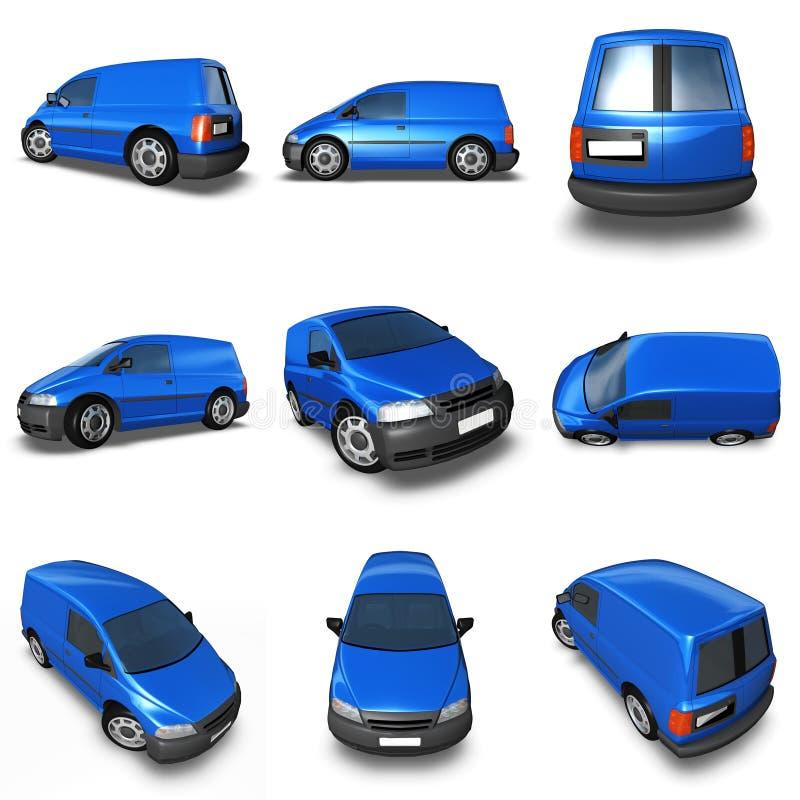 τρισδιάστατο μπλε φορτη&gam στοκ εικόνα με δικαίωμα ελεύθερης χρήσης